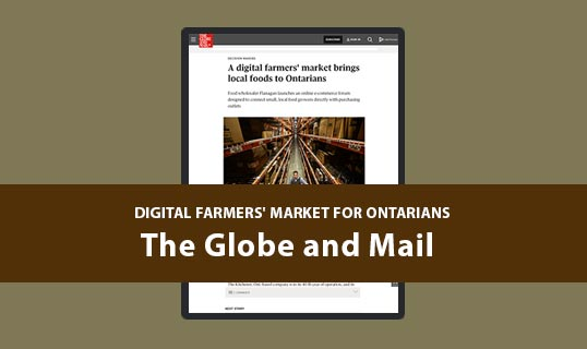 e-commerce website digital farmers marketplace local food