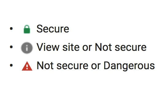 httpS Google Warning Message - Not Secure site
